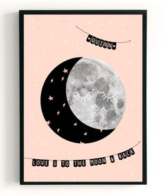 POSTER | MOON SMILE | CUSTOM | POSTERS | THE BIRDS AND THE BEES