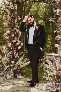 From the disco ball decor to the star-covered attire and other cosmic-inspired details, this wedding has us looking skyward for inspiration! Wedding Men, Wedding Trends, Wedding Designs, Wedding Styles, Wedding Ideas, Groom Attire, Groom And Groomsmen, Romantic Weddings, Unique Weddings