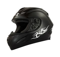 MASEI Matt Black 802 Full Face Motorcycle DOT Helmet