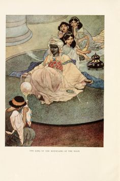 The Happy Prince and other tales , 1898  Illustrations by Charles Robinson    The King of the mountains of the Moon