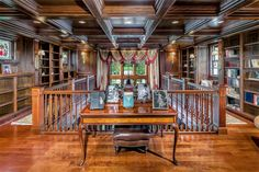 Library | Stunning High Country English-Inspired Home and Horse Farm in Ligonier | Photo Credit: Finite Visual via Christie's International