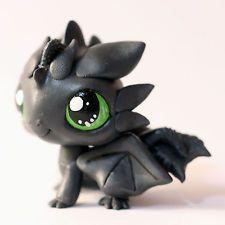 Toothless Dragon inspired Littlest Pet Shop LPS custom (by Piaslittlecustoms)