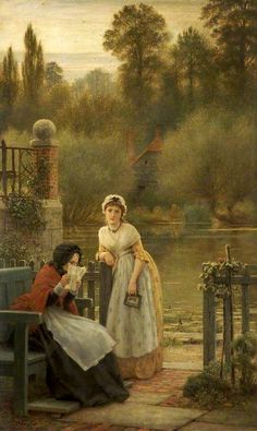 News From Abroad ~ George Dunlop Leslie ~ (English: 1835-1921)