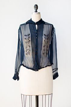 vintage 1920s blouse   Tender is the Night Blouse