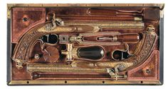 A Magnificent and Superb Royal Cased Pair of Lavishly Gold Inlaid Percussion Pistols by Manceaux of Paris Presented to Captain Thomas, Lord Cochrane, 10th Earl of Dundonald, by Louis Philippe, King of France -A) Manceaux Target Pistol
