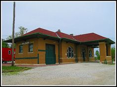 Baldwin City KS train depot