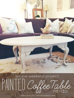 A few months back, I was browsing on my favorite online re-sale sites and came across a beautiful little antique coffee table. It was su...