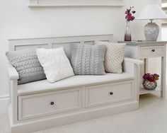hallway decorating 528398968780355362 - The hallway benches: functional, spacious and decorative Hallway+Storage+Bench+-+Studley Hallway Storage Bench, Wall Bench, Storage Bench Seating, Seat Storage, Bench With Shoe Storage, Hallway Seating, Kitchen Storage Bench, Entryway Stairs, Hall Storage Ideas