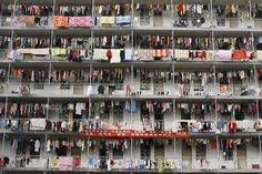 Students at a university in Wuhan, Hubei province, hang their laundry on lines…