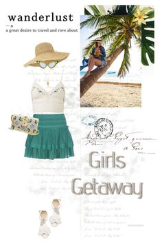 """""""Getaway From it All"""" by seafreak83 ❤ liked on Polyvore featuring Étoile Isabel Marant, Jimmy Choo, Helen Kaminski, Dolce&Gabbana, A-Morir by Kerin Rose, Betsey Johnson and Mason's"""