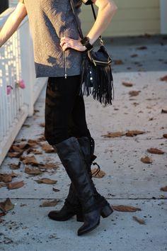Freebird Boots, Paige Denim with @Zappos #zapposfashion, #clevergirls