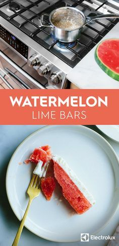 This watermelon lime bar recipe from @ashrod of Not Without Salt may ...