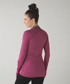 BLACK, 6  Chilly morning runs are no match for this cozy half-zip—it'll make you  jump, jump out of bed.
