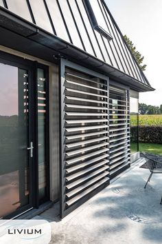 Window Shutters Exterior, Outdoor Shutters, Facade Design, House Design, Dutch House, Small Backyard Pools, Modern House Plans, Mid Century House, House Front