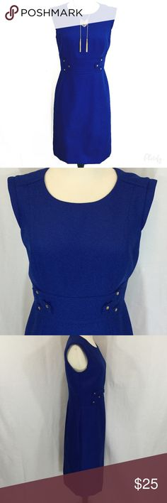 Stunning Royal Blue Tahari Dress Stunning royal blue dress size 4 from Tahari for Arthur Levine. Fully lined back zip. 28 inch waist, 39 inches long, 36 inch hips. 100% polyester woven fabric. Many small snags throughout skirt. Priced accordingly. Tahari Dresses