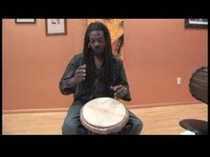 How to Play African Drums : Tones on a Djembe Drum African Drum, African Dance, Singing Lessons Online, Belly Dance Music, Bucket Drumming, Djembe Drum, Singing Exercises, Hand Drum, Didgeridoo