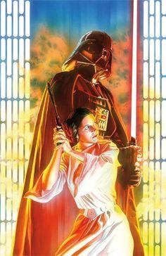 Star_Wars   Leia / Vader - Alex Ross