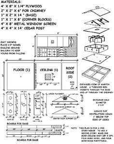 Print Purple Martin House Plans and Dimensions Purple Martin House Plans, Martin Bird House, Wooden Bird Houses, Bird Houses Diy, Purple Martin Birdhouse, Bird House Plans Free, Duck House, Wood Bird, Kit Homes