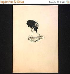 20.18 Sale ca. 1900 Original Ink Fashion Illustration Kate Cathcart New York by JigsandLarry on Etsy https://www.etsy.com/listing/234788868/2018-sale-ca-1900-original-ink-fashion