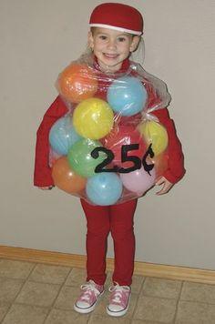 Halloween costume: gumball machine