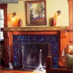 Ceramic Tile Design - Fireplace Ideas