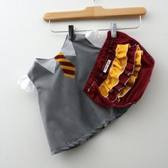 Holy amazing. Hogwarts Gryffindor Swing Set - Shirt and Diaper Cover on Etsy, $39.50