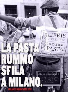 Rummo pasta at the Fashion week in Milano - September 2013
