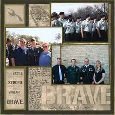 Army Scrapbook Ideas pictures
