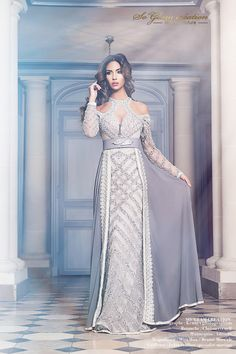 so glam creation haute couture Morrocan Dress, Moroccan Caftan, Caftan Dress, Lace Dress, Dress Up, Hijab Dress, Hijab Fashion, Fashion Dresses, Muslim Fashion