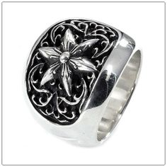 CHROME HEARTS/RING CLASSIC OVAL STAR