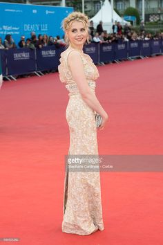 British actress Lucy Boynton attends the 'In Dubious Battle' Premiere during the 42nd Deauville American Film Festival on September 5, 2016 in Deauville, France.