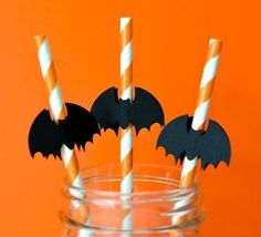 Halloween Bat Party Straws Halloween Bats, Straws, Birthday Candles, Party, Fiesta Party, Parties