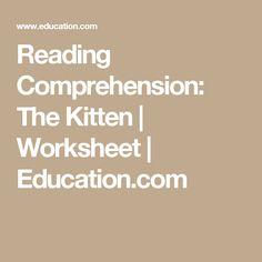 Reading Comprehension: The Kitten | Worksheet | Education.com