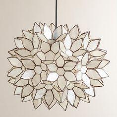 One of my favorite discoveries at WorldMarket.com: Large Capiz Lotus Hanging Pendant Lantern