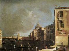 Scuola veneziana c. 1760 - Veduta di un canale a Venezia
