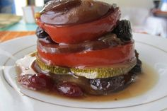 Skinny Eggplant Caponata Recipe: Simply serve with whole wheat toasted baguettes or crostini and a really nice part skim or low-fat mozzarella cheese. Great Recipes, Favorite Recipes, Recipe Ideas, Yummy Recipes, Recipies, Yummy Food, Healthy Recipes, Eggplant Caponata, Eggplant Dishes