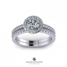 0.97cts Engagement & Wedding Ring Combo GD574