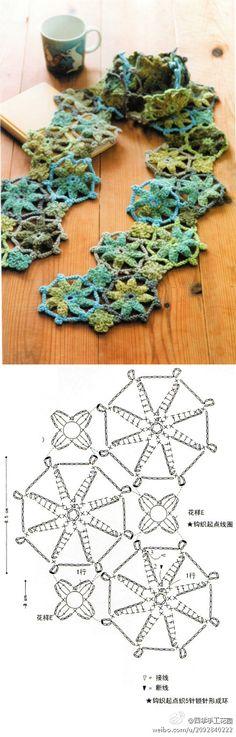 Crochet motifs ༺✿ƬⱤღ  https://www.pinterest.com/teretegui/✿༻