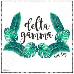 Geneologie | Greek Tee Shirts | Greek Tanks | Custom Apparel Design | Custom Greek Apparel | Sorority Tee Shirts | Sorority Tanks | Sorority Shirt Designs  | Sorority Shirt Ideas | Greek Life | Hand Drawn | Sorority | Sisterhood | Delta Gamma | Palm Leaves | Monster Leaves | Sorority Name | Delta Gamma | Bid Day | DG