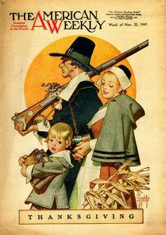 J. C. Leyendecker   - Thanksgiving - The American Weekly