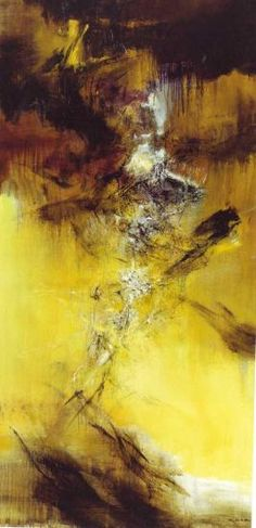 ZAO Wou-ki (Chinese-French, b. 1969 Oil on canvas x cm Signed lower right Wou-ki in Chinese and ZAO in French Abstract Landscape, Abstract Art, Abstract Paintings, Modern Art, Contemporary Art, Painting Workshop, Mountain Art, Inspiration Art, Art Moderne