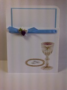 Ricamo su carta - Biglietto Embroidery Cards, Picasa Web Albums, Card Making, Greeting Cards, Frame, How To Make, Archive, Stitching, Thread Art