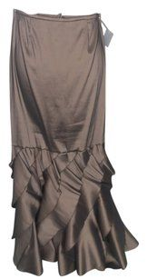 Tadashi colection Maxi Skirt shiny moca