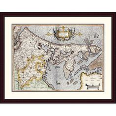 Global Gallery 'Map of Holland' by Rumold Mercator Framed Graphic Art Size: