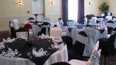 Black and White Polka Dot Wedding, Lake Receptions