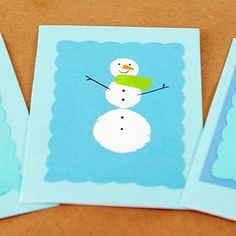 Our Stamped Snowman Card is festive, sweet, and surprisingly easy — we used felt furniture pads to make the snowman's body!