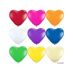 Herzballons Freie Farbauswahl Ø 25 cm