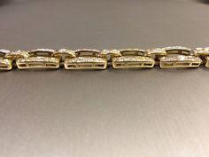 Fancy Diamond Bracelet | From a unique collection of vintage link bracelets at https://www.1stdibs.com/jewelry/bracelets/link-bracelets/