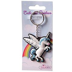 Keychains, Personalized Items, Hair, Beauty, Unicorn, Light Blue, Schmuck, Gifts, Key Hangers