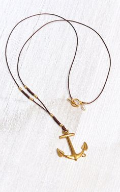 ANCHORS AWAY Necklace by MOONDROPS by MOONDROPSjewlery on Etsy, $36.00